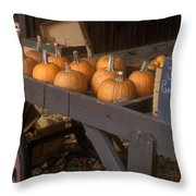 Autumn Farmstand Throw Pillow by John Burk