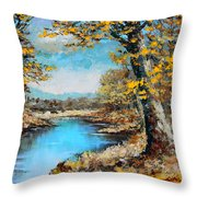 Autumn Gold Throw Pillow by Karon Melillo DeVega