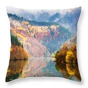 Autumn Lake Throw Pillow by Evgeni Dinev