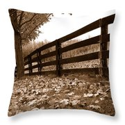 Autumn Perspective Throw Pillow by Joe  Ng