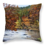 Autumn River Throw Pillow by Jack Skinner