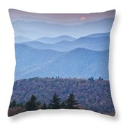 Autumn Sunset On The Parkway Throw Pillow by Rob Travis