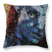 Avatar Neytiri Bottle Cap Mosaic Throw Pillow by Paul Van Scott