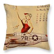 Aviation 1953 Throw Pillow by Cinema Photography