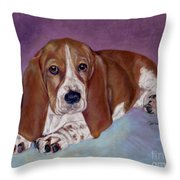 Baby B. Throw Pillow by Pat Saunders-White