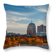 Back Bay Sail Throw Pillow by Susan Cole Kelly
