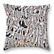 Bad-luck omikuji in Asakusa Tokyo Japan Throw Pillow by Christine Till