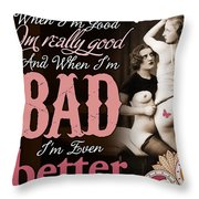 Bad Seven Throw Pillow by Chris Andruskiewicz