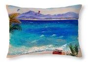 Baja Safari Throw Pillow by Lynee Sapere