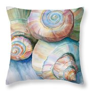 Balance In Spirals Watercolor Painting Throw Pillow by Michelle Wiarda