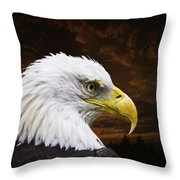 Bald Eagle - Freedom And Hope - Artist Cris Hayes Throw Pillow by Cris Hayes
