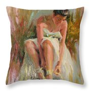 Ballerina Throw Pillow by David Garrison