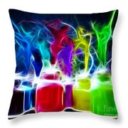 Ballet Of Colors Throw Pillow by Pamela Johnson