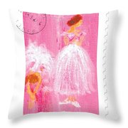 Ballet Sisters 2007 Throw Pillow by Marie Loh
