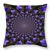 Balloon Flower Kaleidoscope Throw Pillow by Teresa Mucha