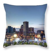 Baltimore Harbor Throw Pillow by Shawn Everhart