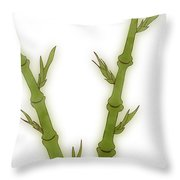 Bamboo Throw Pillow by Frank Tschakert