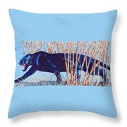 Bamboo Panther Throw Pillow by Larry  Johnson
