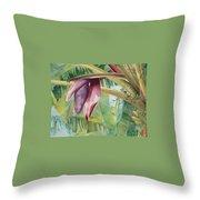 Banana Flower Throw Pillow by AnnaJo Vahle