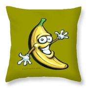 Banana Throw Pillow by Kevin Middleton