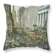 Bank Panic, 1884 Throw Pillow by Granger