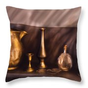Bar - Ready for a drink Throw Pillow by Mike Savad
