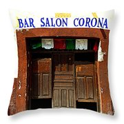 Bar Salon Corona Throw Pillow by Mexicolors Art Photography