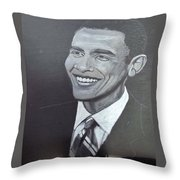Barack Obama Throw Pillow by Richard Le Page