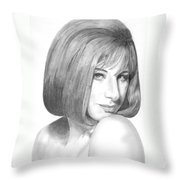 Barbra Streisand Throw Pillow by Rob De Vries