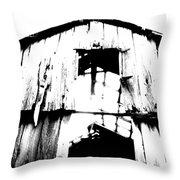 Barn Throw Pillow by Amanda Barcon