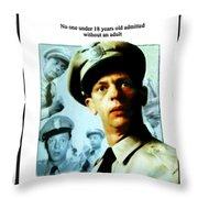 Barney Poster Throw Pillow by Joan  Minchak