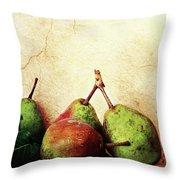 Bartlett Pears Throw Pillow by Stephanie Frey