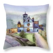 Basilica Of St Francis  Assisi Throw Pillow by Lydia Irving