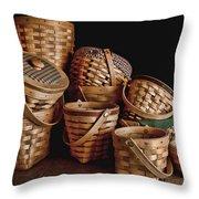 Basket Still Life 01 Throw Pillow by Tom Mc Nemar