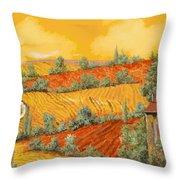 Bassa Toscana Throw Pillow by Guido Borelli