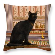 Bast Throw Pillow by Corey Ford