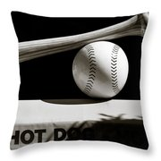 Bat And Ball Throw Pillow by Dave Bowman
