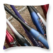 Bat Collection Throw Pillow by Kelley King