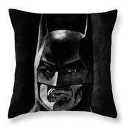 Batman Throw Pillow by Salman Ravish