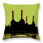 Battersea Power Station London Throw Pillow by Jasna Buncic