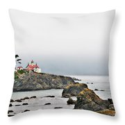 Battery Point Lighthouse California Throw Pillow by Christine Till