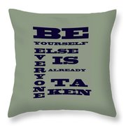 Be Yourself Throw Pillow by Georgia Fowler