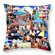 Beach Chaos Throw Pillow by Diana Angstadt