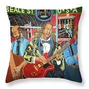 Beale Street Throw Pillow by John Keaton
