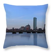 Beantown on Ice Throw Pillow by Juergen Roth