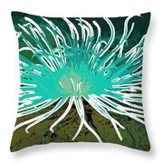 Beautiful Sea Anemone 2 Throw Pillow by Lanjee Chee