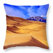Beauty Of The Dunes Throw Pillow by Scott Mahon