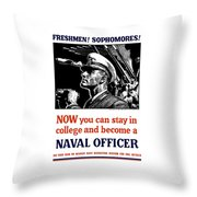 Become A Naval Officer Throw Pillow by War Is Hell Store