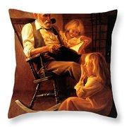Bedtime Stories Throw Pillow by Greg Olsen