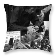 Beijing City 11 Throw Pillow by Xueling Zou